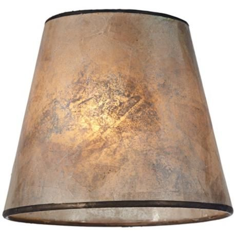 Blonde Mica Lamp Shade 3.5x5.5x5 (Clip-On) - Style # 5X979