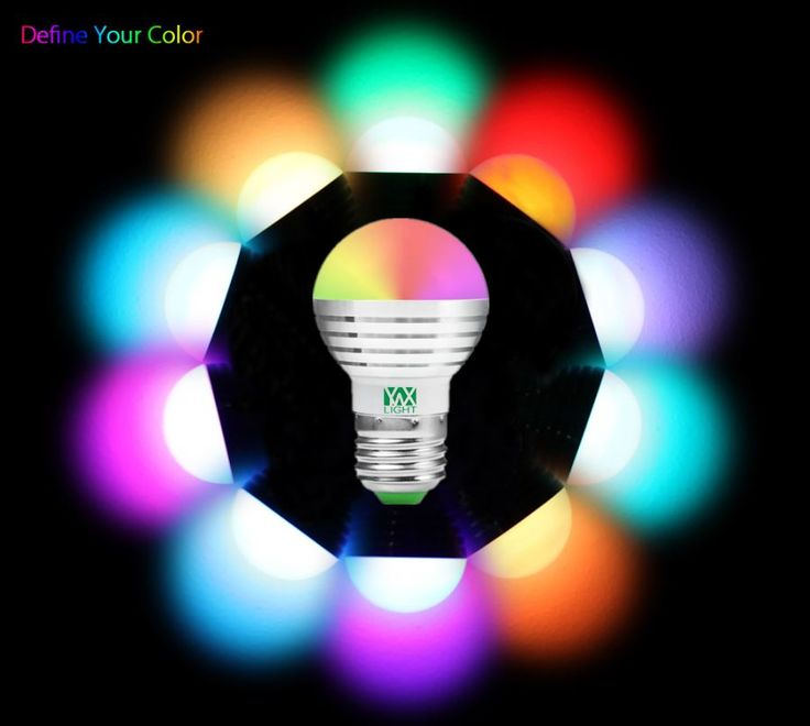 YWXLight E27 5W RGB Lamp LED Bulbs (2 PCS) w/ IR Remote Controller - Free Shipping - DealExtreme