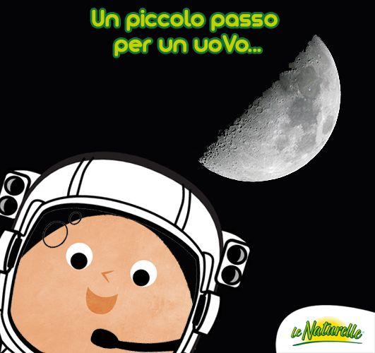 """#EggQuote """"Un piccolo passo per un uoVo, un grande balzo per l'umanità"""" - Neil Armstrong, 20 luglio 1969 #MoonDay!"""