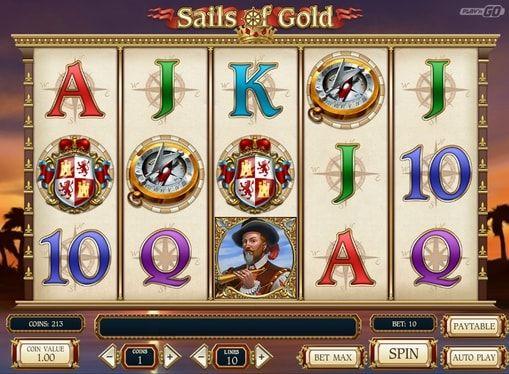 Автомат Sails of Gold онлайн на реальные деньги. Игровые автоматы на морскую тематику всегда пользовались большой популярностью. Неудивительно, что компания Play'n GO решила выпустить свой новый онлайн слот на эту тему. Он называется Sails of Gold и повествует о морских прик�