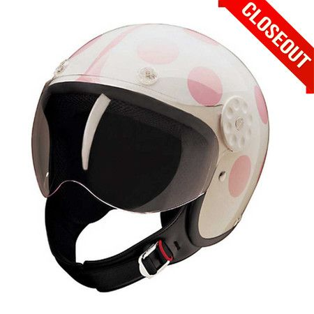 HCI-15 White/Pink Lady Bug Scooter Helmet