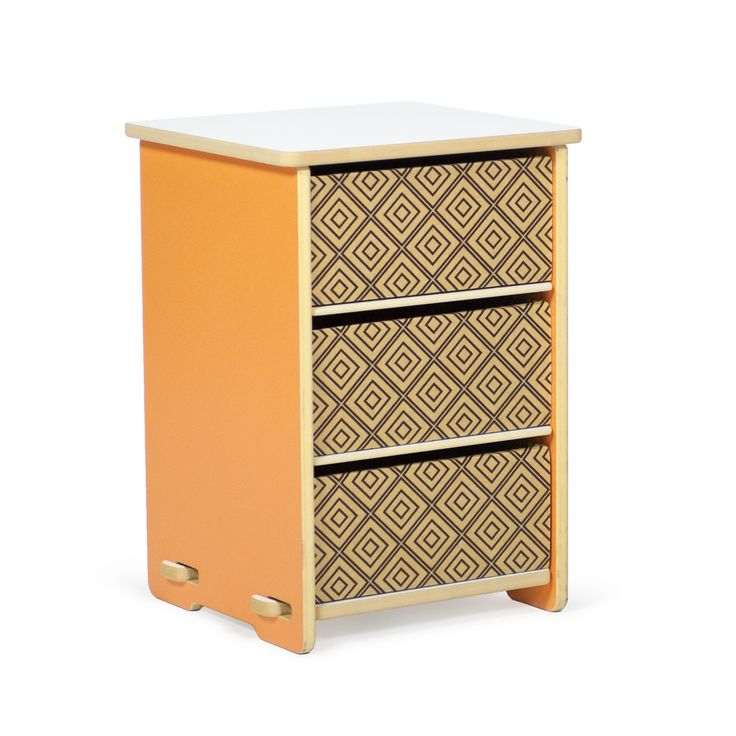 This piece of modern kids furniture by Sprout sits nicely beside your child's bed, creating the perfect place to set a lamp, and hold all the little necessities of childhood. The energizing orange makes this kids nightstand perfect for your energetic child!