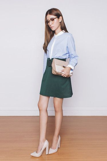 Sfera Top, Sfera Bag, Jrunway Skirt, Sm Parisian Heels, Zero Uv Glasses