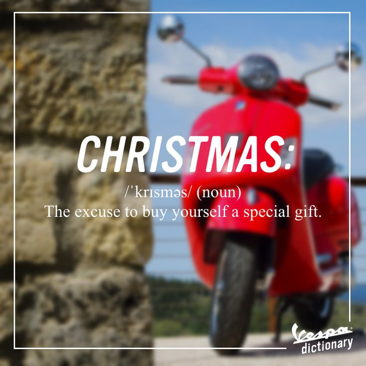 There are only 16 days until the most awaited feast of the year.  #Vespa #VespaDictionary #Christmas