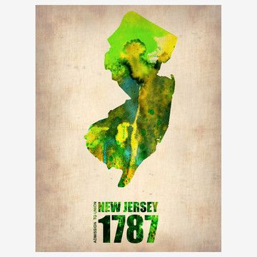 98 best New Jersey Map Art images on Pinterest Map art, City maps - new world map canvas picture