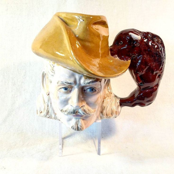 Here's an odd one for your morning cuppa. Buffalo Bill head mug with buffalo handle. . . . #mug #cup #coffeecup #coffeemug #buffalo #buffalobill #head #mugshot  #antiques #vintagebooth  #vintageshop #vintage #portlandvintage #pdxvintage #vintagepdx #vintageportland  #beaverton #curiositiesvintage