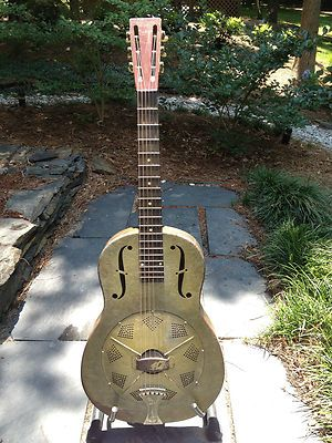 1931 Vintage National Duolian Resonator Guitar All Original