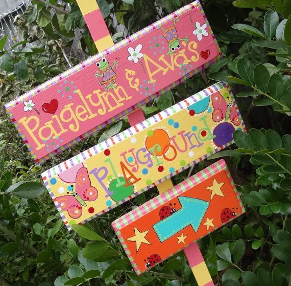 Garden Sign Playground Sign Yard Sign Holiday Sign por elliesshop