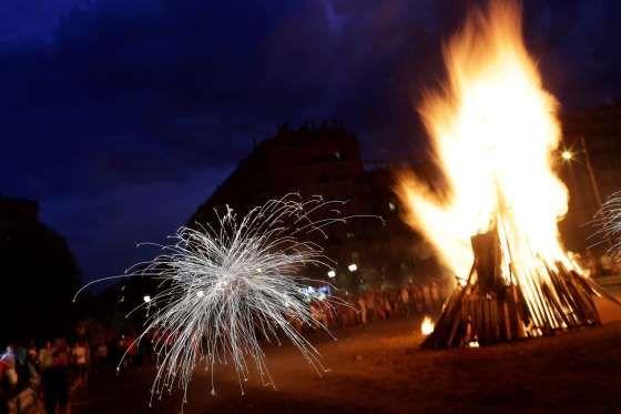 Bonfires and fireworks - Emilio Morenatti/Associated Press/AP Images
