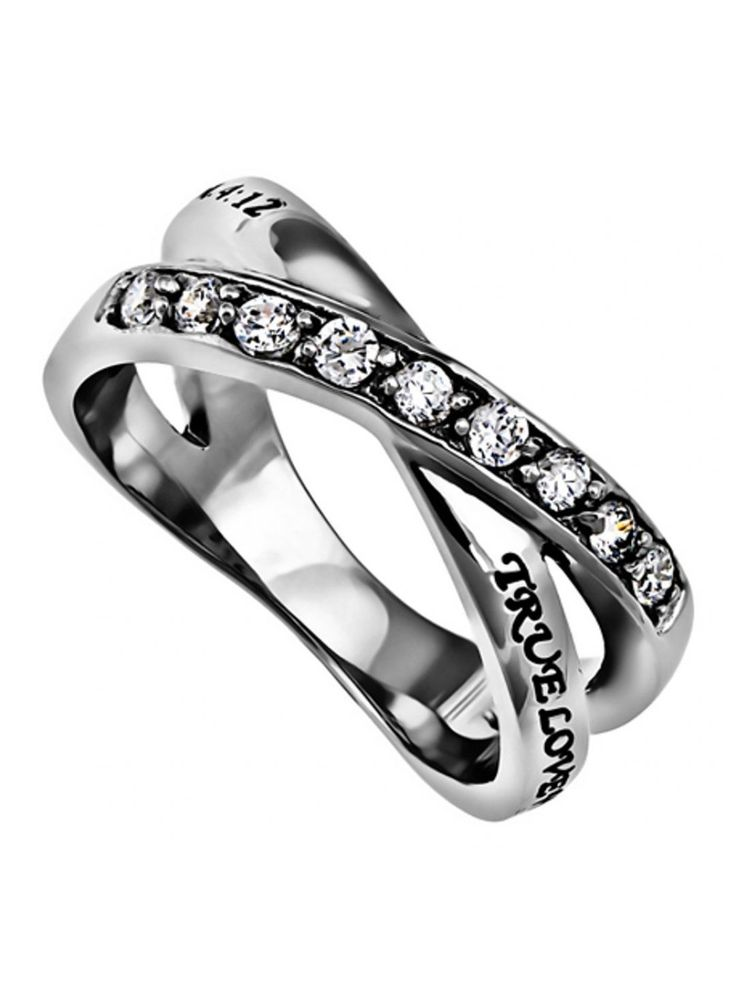 The Benefit of Purity is Guarding Your Heart and Yourself from the Inside Out. The Design has 9 Cubic Zirconia on One Half, and the Bible Verse on the Other Half, based on 1 Timothy 4:12. Be the Person You Are Looking For is Looking For.