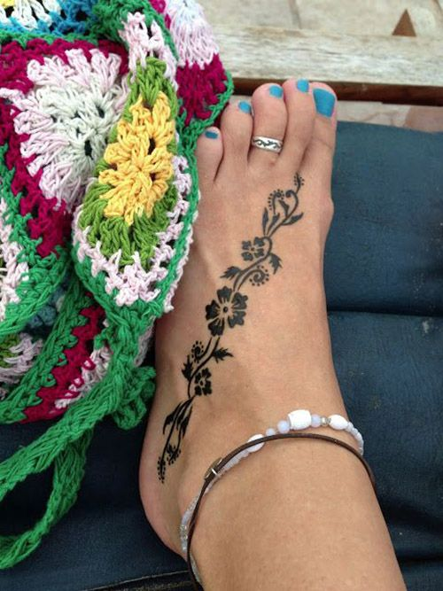 easy henna designs for feet 2