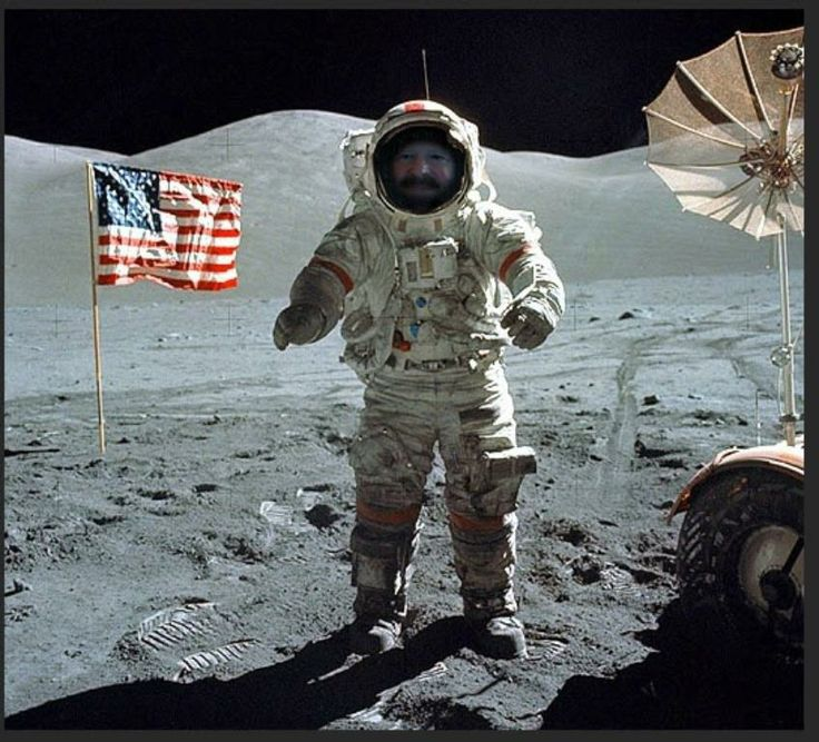 when I was on the moon selfie | Photo Manipiulation for ...