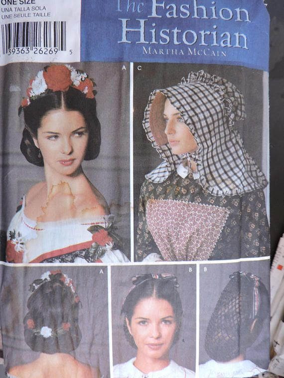 Floral Headpiece Hairnet Bonnet Historical Simplicity 5740