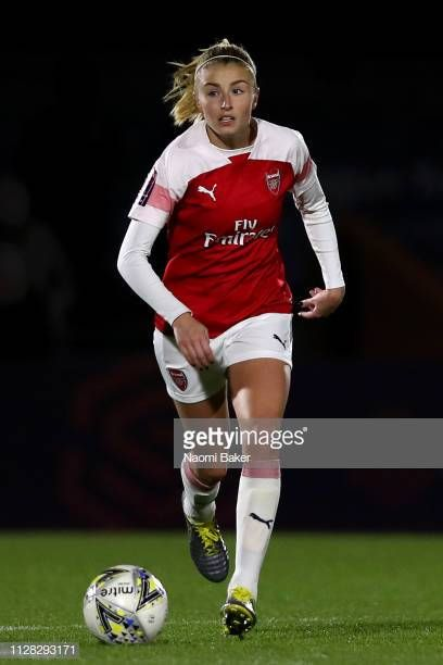 Leah Williamson of Arsenal in ac during the FA WSL Cup match