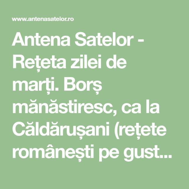 Antena Satelor - Rețeta zilei de marți. Borș mănăstiresc, ca la Căldărușani (rețete românești pe gustul tău)