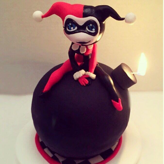 Harley Quinn bomb cake!
