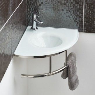 Small and graceful, this Roma White Glass Corner Basin is perfect to sit neatly in the corner of any smaller or cloakroom bathrooms, to bring a sophisticated look you will want to show off to all of your guests. The white glass is hard-wearing and durable