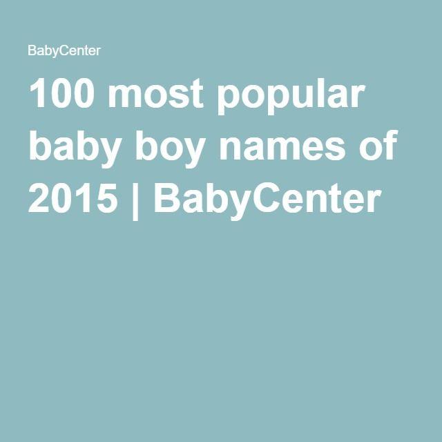 100 most popular baby boy names of 2015 | BabyCenter