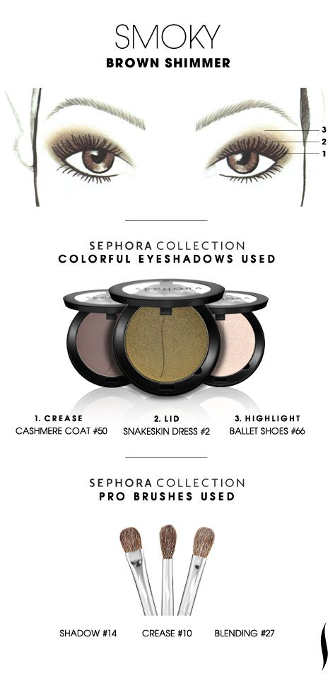 SMOKY: Brown Shimmer HOW TO #sephoracollection #sephora #eyeshadow #makeup