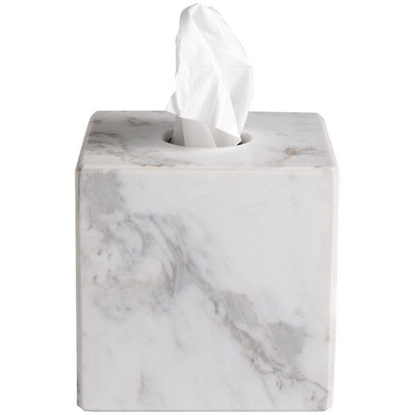 Luna Marble Tissue Box Cover Reviews ❤ liked on Polyvore featuring home, bed & bath, bath, bath accessories, modern bathroom accessories, marble bath accessories, modern bath accessories and marble bathroom accessories