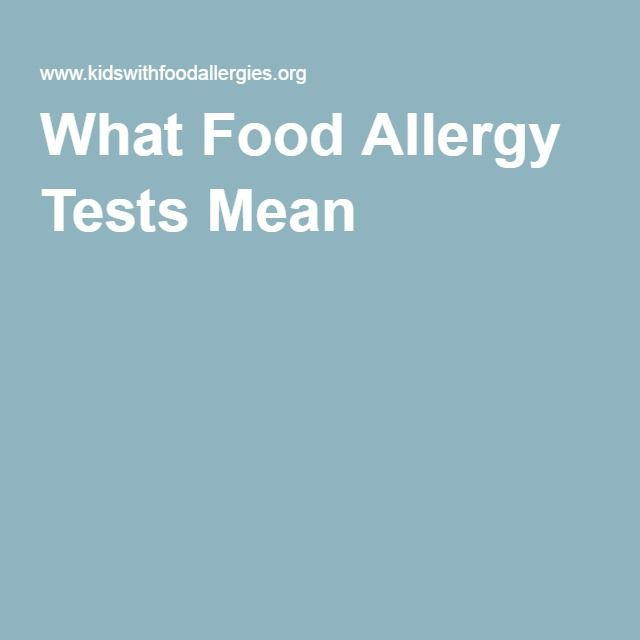 What Food Allergy Tests Mean...Weed Out The Wheat~~~