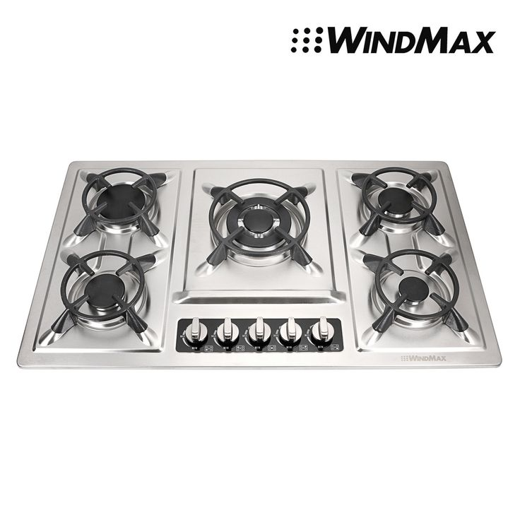 33.86 Stainless Steel 5 Burners Built-In Gas Cooktop NG LPG Gas Stoves Cooker
