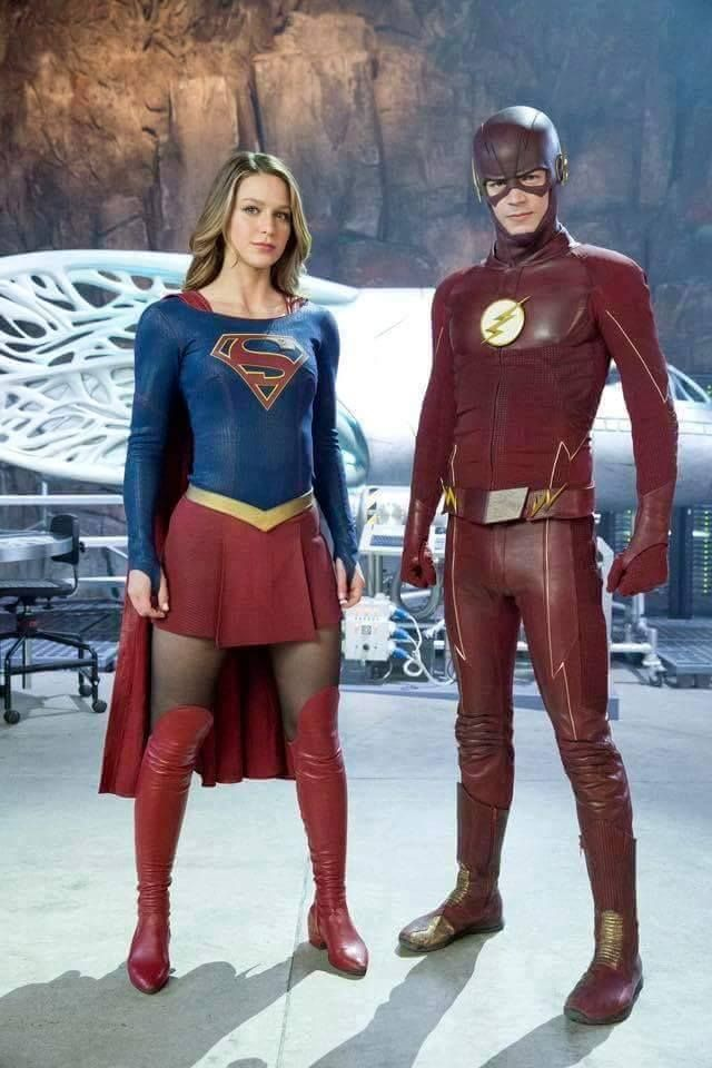 Supergirl and the Flash!