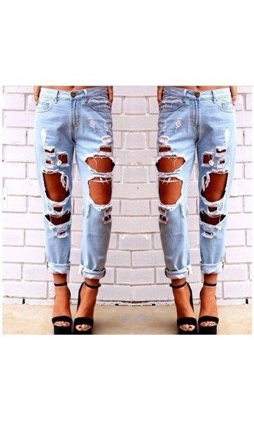 Jeans Donna Maxi-Strappi new moda fashion 2015