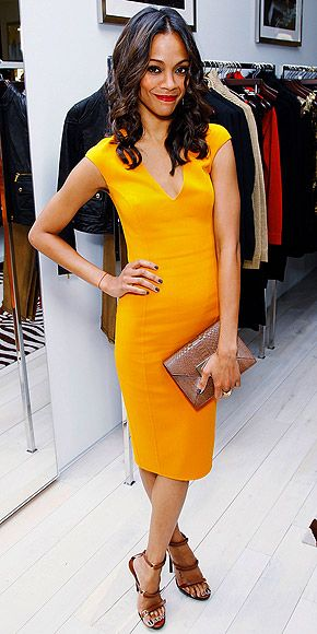 Oh if only I had darker skin to pull off this bright yellow Michal Kors dress!