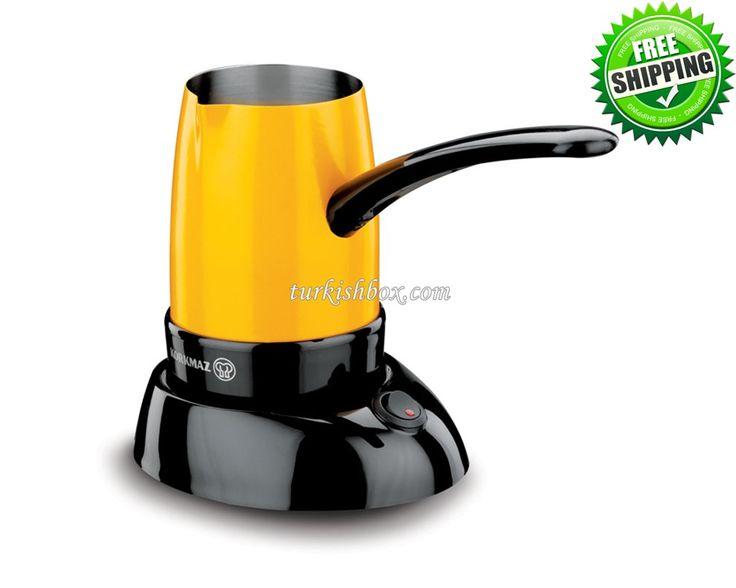 Turkish Coffee Maker - Korkmaz A365 Yellow - http://turkishbox.com/product/turkish-coffee-maker-korkmaz-a365-yellow/  #turkishtowels #peshtemals #turkishproducts