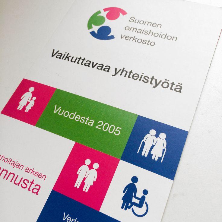 Suomen omaishoidon verkosto tunnus ja graafinen ilme.