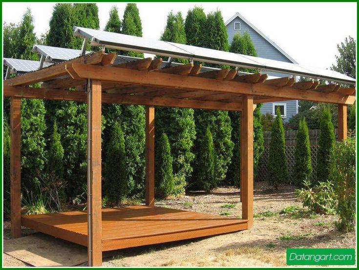 Solar Outdoor Pergola Lighting Solar Panel Mounting