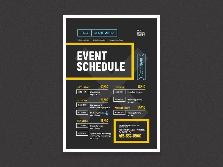 Event Schedule Template Schedule Event Poster Template The 25 – Sample Event Schedule Template