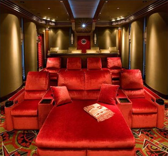 Who knows... Maybe a money tree will start to grow in my backyard 15 Cool Home Theater Design Ideas | DigsDigs