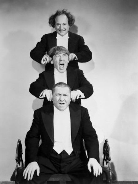 "Larry, Moe, Curly and Shemp star in four classic Three Stooges comedies, including ""Disorder in the Court"", in which the Stooges are witnesses at a trial where their friend—a dancer at a nightclub where they are musicians—is accused of murder. The Stooges manage to disrupt the proceedings, but end up saving the day when they discover the real murderer's identity. The other shorts (spanning from 1936-1949) include ""Brideless Groom"", ""Sing a Song of Six Pants"", and ""Malice in the Palace"" Watch"