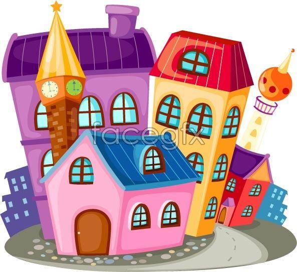 Cartoon construction housing vector
