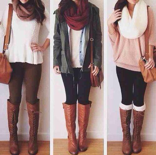 Varios conjuntos de ropa.