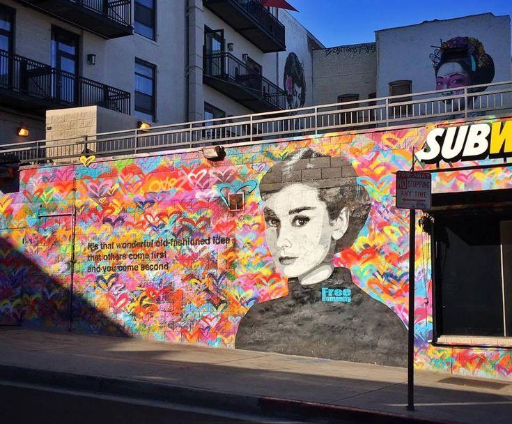 92 best art 3d painting street art mural images on for Audrey hepburn mural los angeles