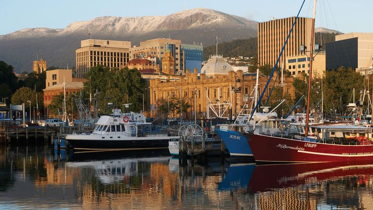 Hobart Waterfront and Mt Wellington, TAS.