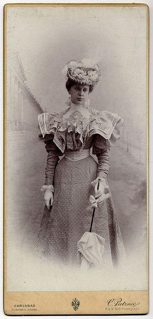 Elegant Late Victorian Lady with Parasol. Beautiful lady...beautiful fashions.