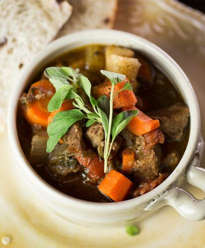 So, the groundhog saw his shadow, as he does pretty much every year. We've had a very unusually warm February, and it almost feels like spring is here. I know better. It's that sneaky mid-season bait-and-switch game.   #Beef #Crock #Paleo #Stew