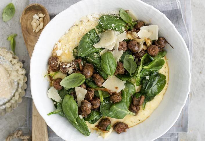 Polentapuuroa ja salsiccaa | Koti ja keittiö