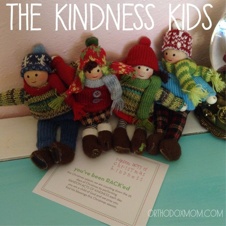40 Ideas for The Kindness Kids {an alternative for elf on the shelf}  #kindnesskids #orthodoxmom