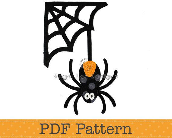 Spider and Web Applique Template. Halloween by AngelLeaDesigns, $2.50