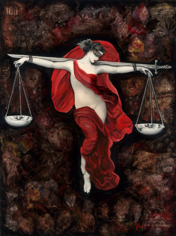 Lady Justice (Edited) Art Print, Political, Philosophical, Statement Art by Jamie Rice by jamiericeart on Etsy