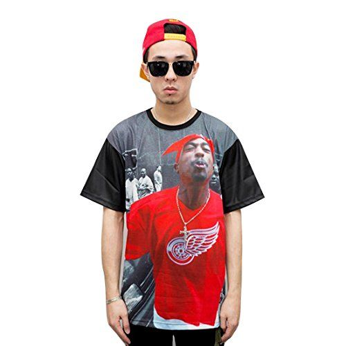 cool 2Pac Sneak RED WINGS Tupac Shirt Clothing for Men Women (L)
