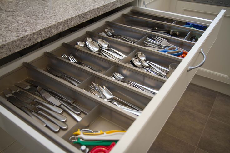 Cutlery inserts for Vertical silverware organizer