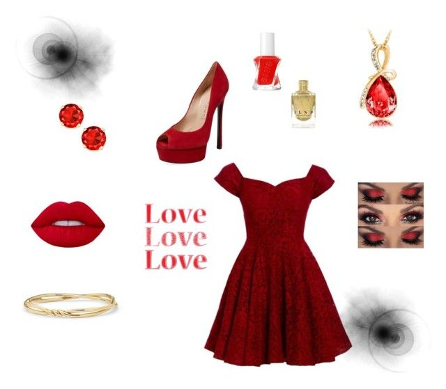 Untitled #13 by xcon27x on Polyvore featuring polyvore, fashion, style, D.anna, Casadei, David Yurman, Essie and clothing
