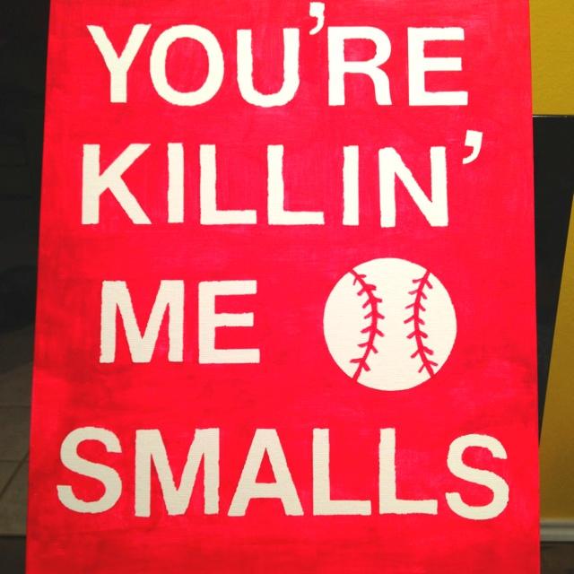 Baseball wall hanging. -- I NEED TO MAKE THIS!