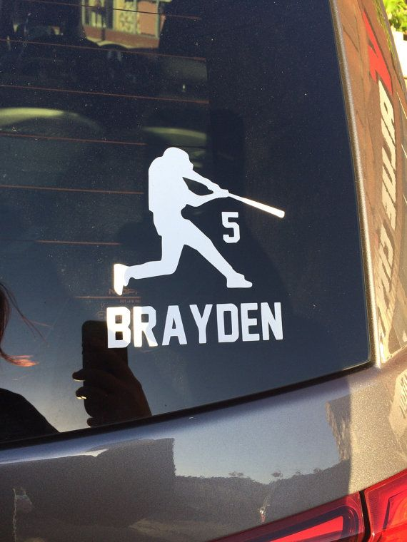 Baseball decal vinyl car sticker on etsy 6 00